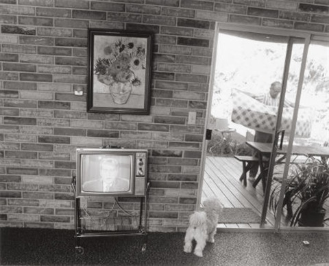 nixon and puppy by bill owens