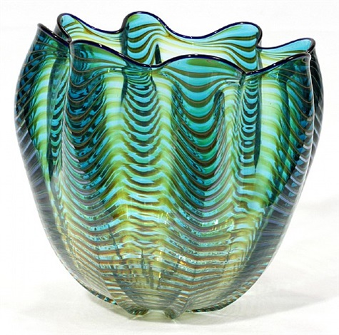 lot no. 1025: glass seafoam vessel by dale chihuly