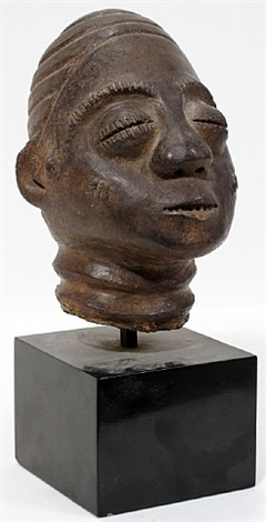 lot no. 1211: african clay head