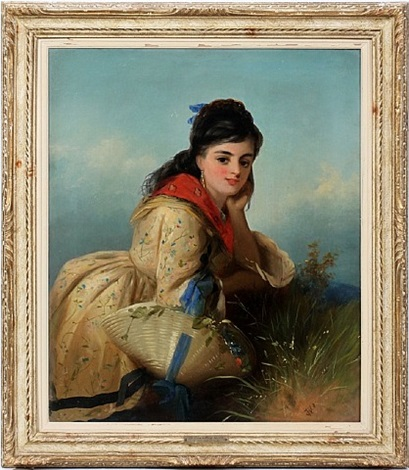 lot no. 2028: portrait of a young lady by thomas kent pelham