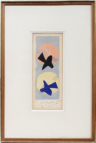 lot no. 2052: deuz oiseaux by georges braque