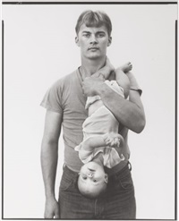 john harrison, lumber salesman, and his daughter melissa, lewisville, texas 11/22/1981 (and other works) by richard avedon