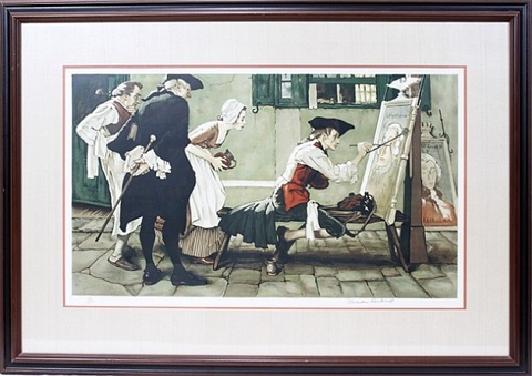 lot no. 2053: colonial sign painter by norman rockwell