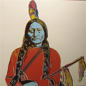 sitting bull iiia.70 by andy warhol