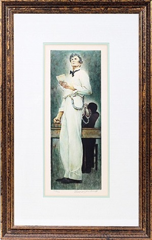 lot no. 2054: lincoln for the defense by norman rockwell