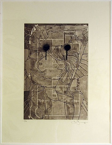 untitled (from the geldzahler portfolio) by jasper johns