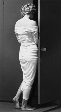 marilyn at the door by philippe halsman