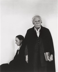 alfred stieglitz and georgia o'keeffe, an american place, nyc by arnold newman