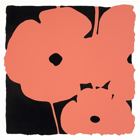 poppies, june 4, 2011 (coral) by donald sultan