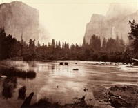 valley of the yosemite (from rocky ford) by eadweard muybridge