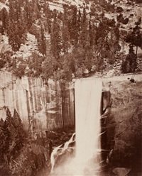 pi-wi-ack, valley of the yosemite (show of stars vernal fall, 400 feet tall) by eadweard muybridge