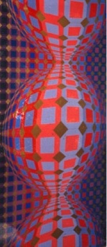 alargada by victor vasarely