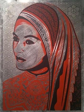 peace woman by shepard fairey