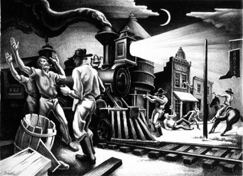 jesse james by thomas hart benton