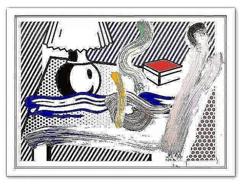 brushstroke still life with lamp by roy lichtenstein