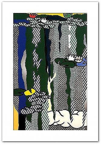 water lilies with cloud by roy lichtenstein