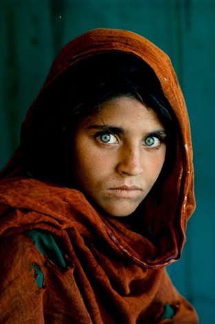 afghan girl by steve mccurry