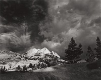echo peaks, clearing from yosemite national park, california by ansel adams