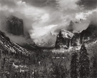 clearing winter storm, yosemite national park, california by ansel adams