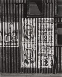 political sign on circus posters by ansel adams