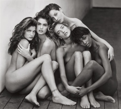 stephanie cindy christy tatjana naomi hollywood by herb ritts
