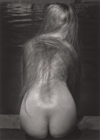 at the pool by ruth bernhard