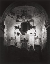 interior of tumacacori mission, new mexico, 952 by ansel adams
