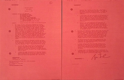 the white house (red) - diptych by jenny holzer