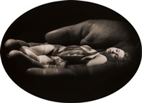 untitled (woman, hand, pod) by jerry uelsmann