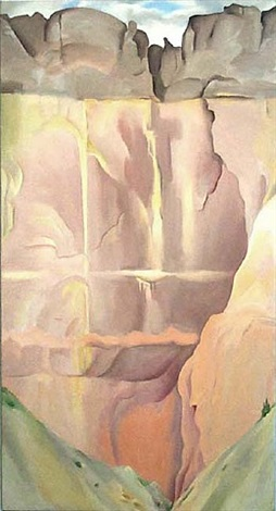 waterfall i by georgia o'keeffe