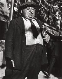 newspaper man, paris (from twelve photographs) by lisette model