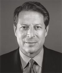 al gore by chuck close