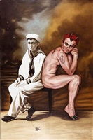 seated sailor and devil by marianna gartner