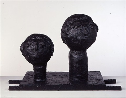 two heads by donald baechler