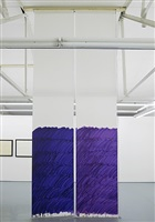 blind no. 18, seventeen-foot high ceiling or lower, dioxazine purple/permanent violet dark/quinacridone violet/ultramarine violet by stephen prina