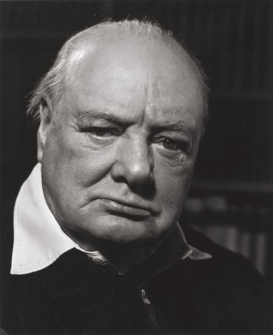 winston churchill by philippe halsman