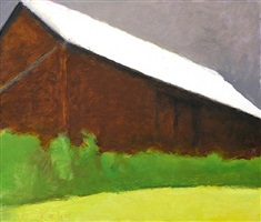 brown barn by wolf kahn