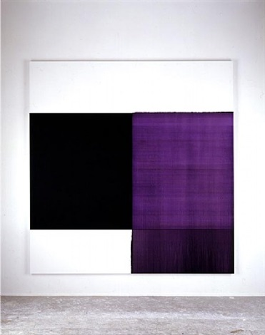 exposed painting dioxazine violet by callum innes