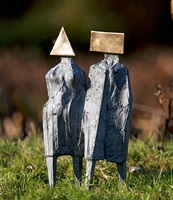 maquette vii walking couple by lynn chadwick