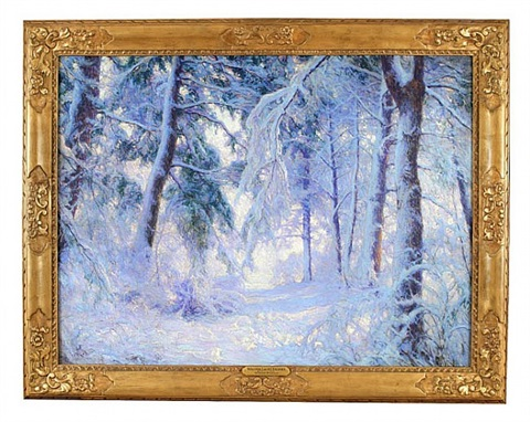 winter forest by walter launt palmer