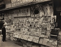 newsstand, east 32nd street & third avenue, manhattan, november 19, 1935 by berenice abbott