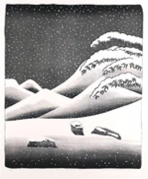 snow by david hockney