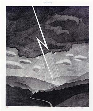 lightning by david hockney