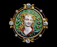 superb renaissance revival brooch by paul grandhomme