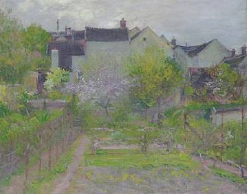 grez-sur-loing by robert william vonnoh