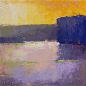 purple pond by ira barkoff