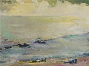 yellow ocean (sold) by ira barkoff