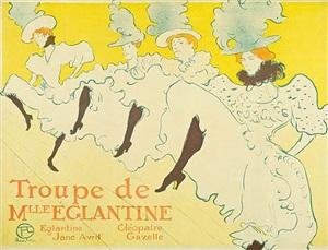 troupe de mlle. eglantine by henri de toulouse-lautrec