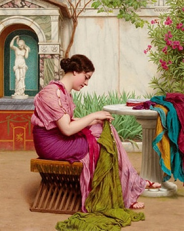 a stitch is free or a stitch in time by john william godward