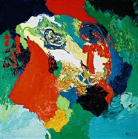 landschap - gezicht by karel appel